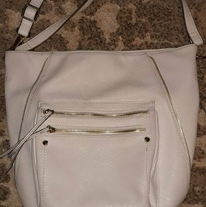 Leather ANA A New Approach cream large shoulder ba